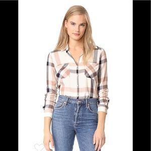 L'agence Jacqueline plaid flannel top L